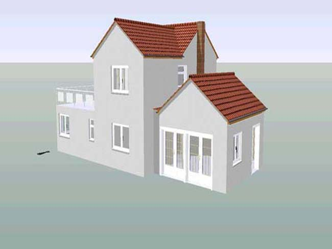 A side extension (3D image).