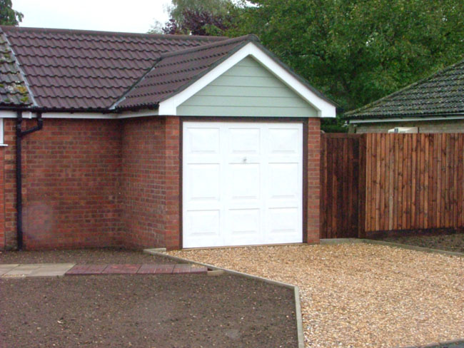 Garage extension.